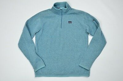 Womens Patagonia Better Sweater 14 Zip Fleece Pullover Blue Size L