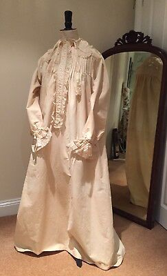 18th Century Antique Gents Nightshirt Prop Museum Vintage Textiles Costume Lace
