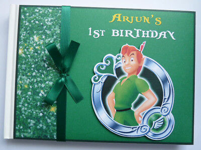Personalised Peter Pan Birthday Guest Book - Any Design