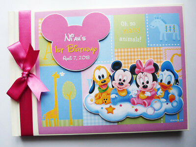 Personalised Baby Disney Baby Shower / Birthday Guest Book - Any Design