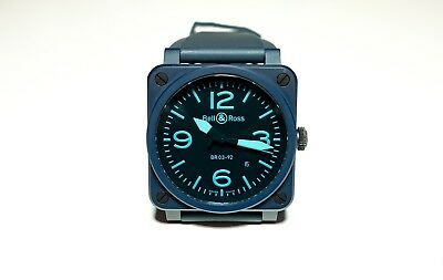6b3c4a621 BELL & ROSS BR03-92-CB Limited Edition Blue Ceramic Watch - Pre ...