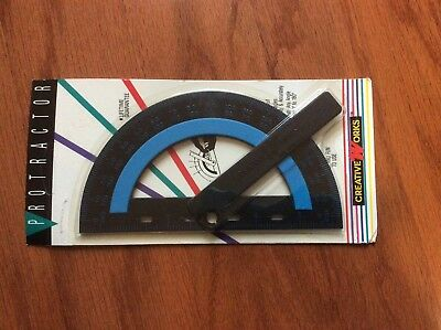 New Vtg NRFP PROTRACTOR Creative Works NOS NIP made in USA 95400