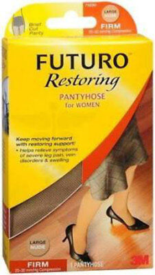 FUTURO Restoring Firm Compression Pantyhose for Women Sz Med Nude, NEW! Orig Pkg