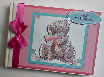 Personalised Teddy Boy/girl /first/1St Birthday Guest Book - Any Design