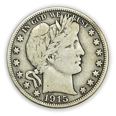 1915-S Barber Half Dollar, Large Silver Coin [3627.10]