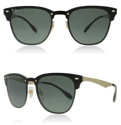 NEW Rayban Blaze Clubmaster Sunglasses RB3576N 043/71 41 Gold Green Classic 3576