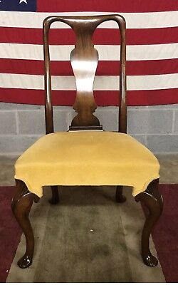 Hickory Chair   Solid Mahogany Side Chair Very Unusual Queen Anne Style