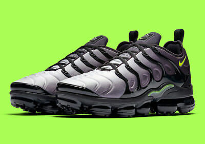 "NIKE AIR VAPORMAX PLUS 924453-009 Black Volt White Men's Sneakers ""NEON 95"" NEW"