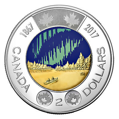 2017 CANADA150 $2(TOONIE) DANCE of the SPIRITS Glow-in-the-Dark Coin SEALED!