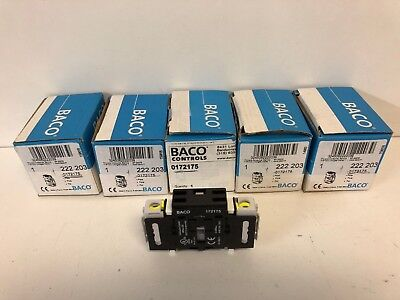 Lot Of (5) New Baco Auxiliary Contacts 222 203 / 0172175 / 172175