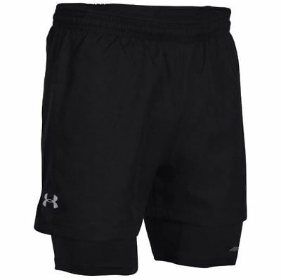 03b218d224e8a Under Armour Launch Print Racer 2-in-1 Running Shorts Men's Size Large