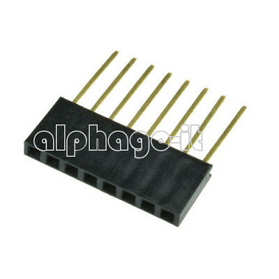 10/50/100PCS 8 Pin 2.54 mm Stackable Long Legs Femal Header For Arduino S