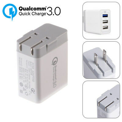 Qualcomm QC3.0 Quick Charge Fast Home Wall Charger US Plug USB Type-C Cable lot