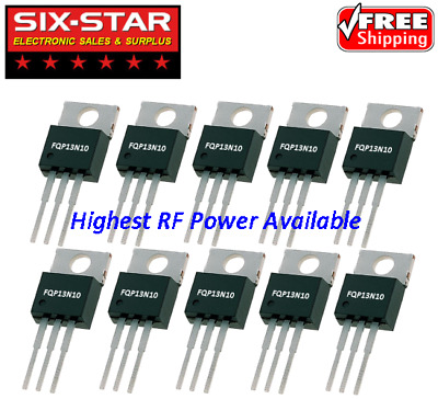 10 Pcs FQP13N10 TO220 NChannel Power MOSFET RF Final Driver CB 10M Radio ERF2030