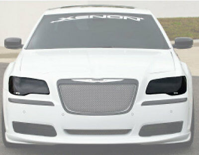 11-14 Chrysler 300 300C 300S GTS Smoke Acrylic Headlight Covers  Protection Pair