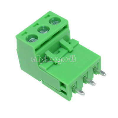 5PCS 5.08mm Pitch KF2EDGK KF-3P 3PIN Right Angle Plug-in Terminal Connector