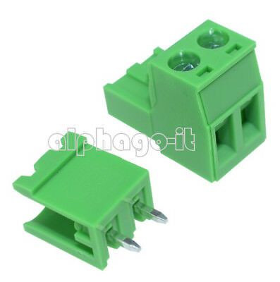 10PCS 5.08mm Pitch KF-2P KF2EDGK  2Pin Right Angle Plug-in Terminal Connector F
