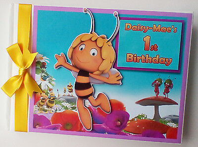 Personalised Bee Character /girl /first/1St Birthday Guest Book - Any Design