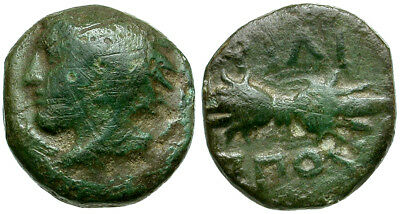 *CCC* Kings of Macedon. Philip II Æ 1/4 Unit / Thunderbolt