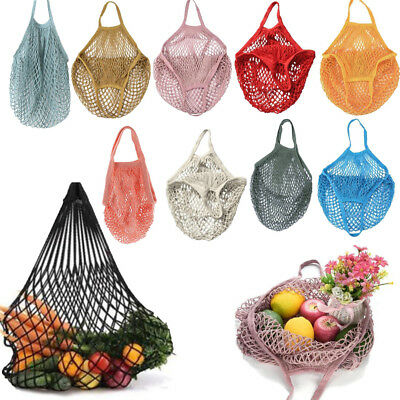 Mesh Net Turtle Bags String Shopping Bag Reusable Fruit Storage Handbag Tote KU