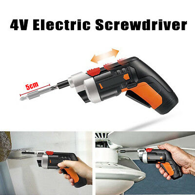 230r/min 4V Electric Screwdriver 1500mAh Collet Size 1/4'' (6.35mm) W/ 10 Bits