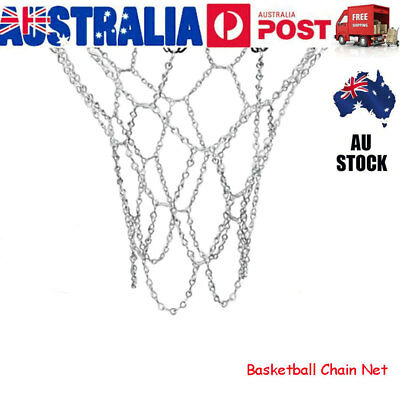 1x Heavy Duty Basketball Ring Metal Chain Net Official Size Rims Hoop 12 Loop AU