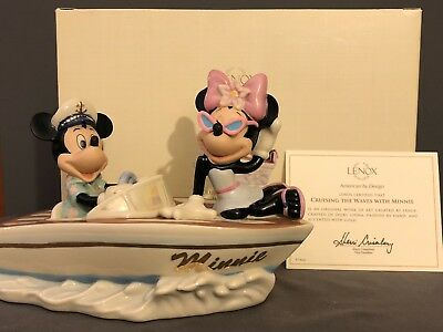 Lenox Disney Mickey CRUISING THE WAVES WITH MINNIE MOUSE Collectible Figurine