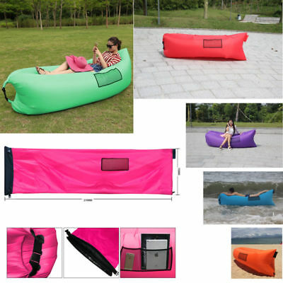 Admirable Multi Color Inflatable Lounger Couch Air Bed Sofa Portable Bralicious Painted Fabric Chair Ideas Braliciousco