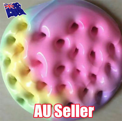 Rainbow Cotton Fairy Cloud Slime Fluffy Icecream Mud Stress Relief Kids Toy S4