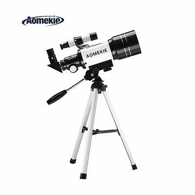 AOMEKIE 30070 Tabletop Refractor Astronomy Telescope Optical Lens With Tripod