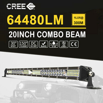 12inch 1000W LED Light Bar Combo 4Row Offroad Driving Work 4x4 Truck Lamp 12/24V