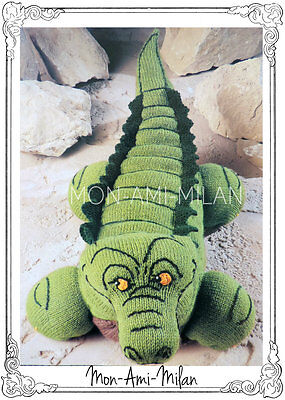 "Crocodile Alligator Knitting Pattern Photocopy To Make Soft Toy 32/"" Long DK"