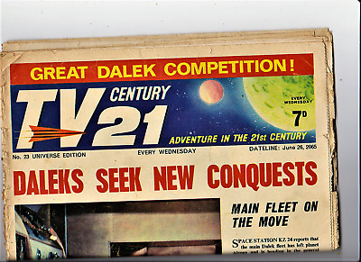 TV CENTURY 21 # 23 June 26 1965/2065 Stingray/Daleks/Fireball xl5/Lady Penelope