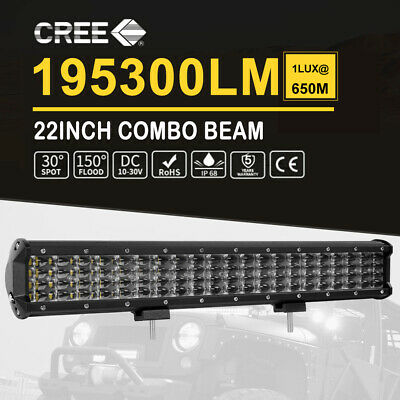 22/20Inch Slim LED Light Bar 520W Spot Flood Work Offroad 4x4 Driving AU 12V 24V