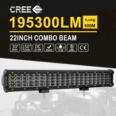 22Inch Penta Row LED Light Bar SPOT FLOOD Lamp Offroad 4x4 Driving Reverse 23''