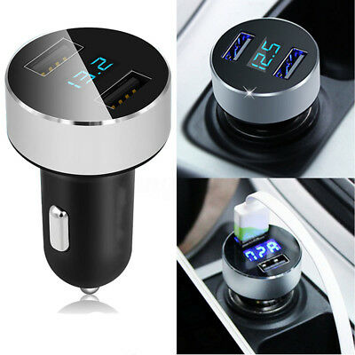 3.1A Dual USB Car Charger Adapter LED Display Fast Charging for iPhone Samsung
