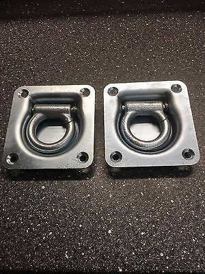 TWO X Recessed Flush Fit Lashing Ring Cargo Tie Down Anchor Truck Trailer