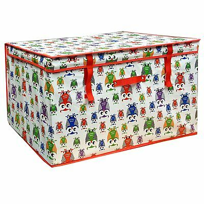 Childrenu0027s Large Foldable Storage Chest Toy Clothes Books Kids Room Tidy Box Owl  sc 1 st  PicClick UK & OWL KIDS CARDBOARD Room Tidy Toy Storage Box Chest Trunk Choice Of ...