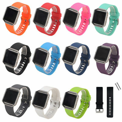 Replacement Silicone Wristband Bracelet Buckle Band Strap for Fitbit Blaze Sport