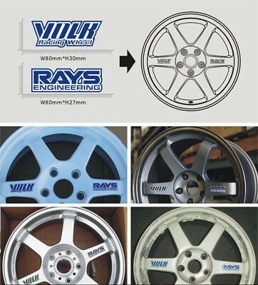 Volk Racing Wheel/RAYS Engineering Rims Decal Sticker in BLUE - BRAND NEW