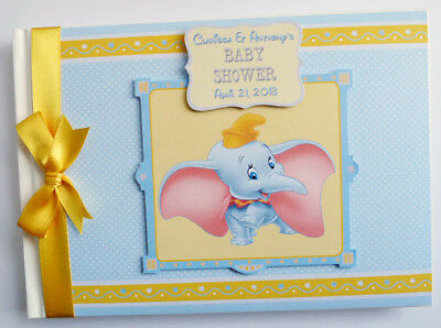 Disney Dumbo Personalised Birthday / Baby Shower Guest Book - Any Design