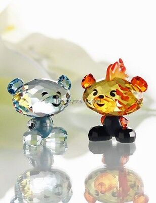 Swarovski Crystal Bo Bears Fire And Ice 5004496 Mint Boxed Retired