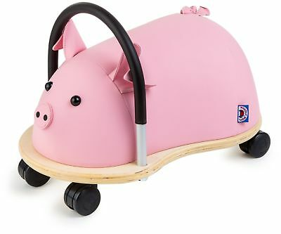 Children Kids Toddler Fun Play Padded Handle Adorable Plush Toy Wheely Pig New