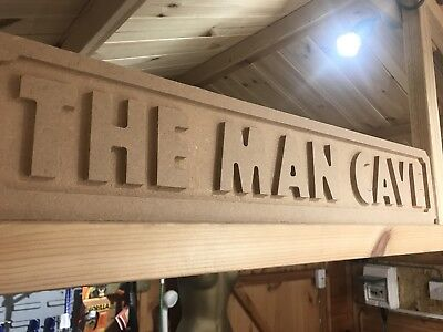 Large Mdf The Man Cave Street Sign Name Cnc Carved 286