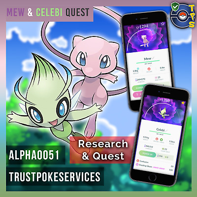 Pokemon Go Celebi or Mew Catching - Research and Quest BAN SLASH FREE 100% SAFE