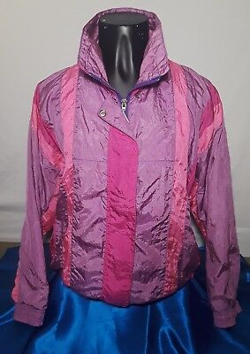 Casual Isle Track Suit Jacket And Pants Size Petite Windbreaker Jogging Retro