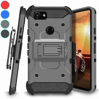 For Google Pixel 2 XL Kickstand Belt Clip Holster Case Hybrid Rugged Armor Cover