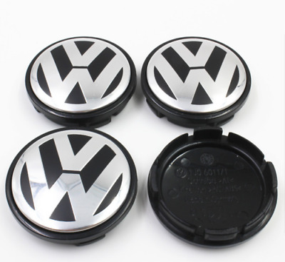 4PCS 65MM Centre Wheel Caps For VW Volkswagon Golf/GTI/Passat/Jetta/cc Hub Cap