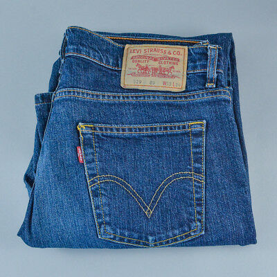Vintage Levi 529 Jeans Straight Leg Zip Fly Blue (PatchW33L34) W 31 L 32.5 US 10