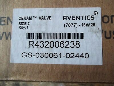 New In Box Aventics (Rexroth) R432006238 Size 3 Ceramic Solenoid Valve